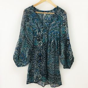 Joie 3/4 Sleeves Sheer Blouse Size S